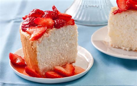 recipes for strawberries orange angel food cake with strawberries recipe chowhound