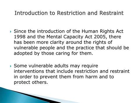 restriction  restraint training powerpoint