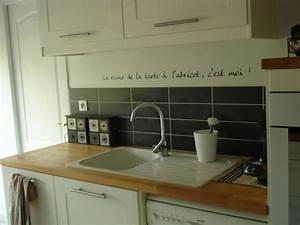 idee deco cuisine avec les stickers idzif realisez une With idee deco cuisine avec prix de cuisine Équipée