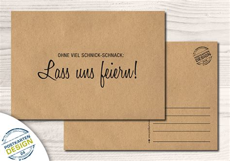 humor witzige party einladung postkarte ein