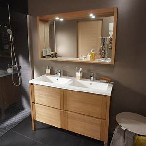 pose d39un meuble de salle de bains double vasque jusqu39a With meuble salle de bain 140 cm double vasque sur pied