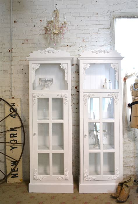 shabby chic cabinets shabby chic china cabinet