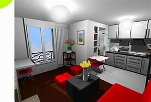 Amenagement salon cuisine 20m2 maison design bahbecom for Amenagement cuisine salon 20m2