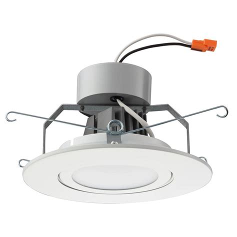 Lithonia Lighting 6 In Matte White Recessed Gimbal Led