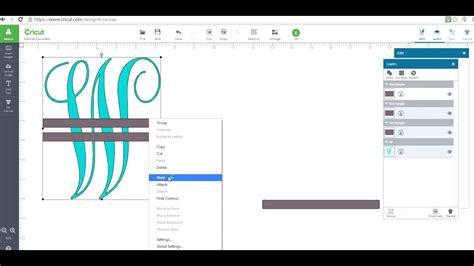 monagram split letter  cricut design space