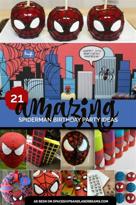 amazing spiderman boys birthday party spaceships