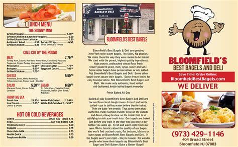 Our Best Menus by Bloomfield Best Bagels Deli Catering Fresh Bagels