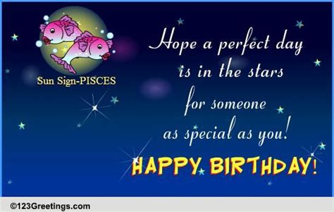 happy birthday pisces  zodiac ecards greeting cards