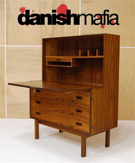 mid century modern secretary desk mid century danish modern rosewood secretary desk dresser