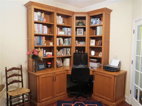 office desk with bookcase and shelving custom solid walnut corner home office desk cabinets and
