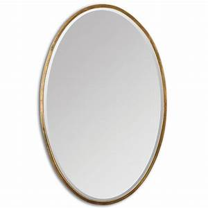 Uttermost Herleva Oval Antique Gold Oval Mirror 12894
