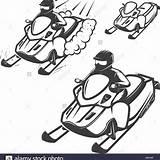Snowmobile Coloring Printable Getcolorings Getdrawings sketch template