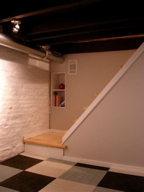 Small Kitchen Redo Ideas - high quality basement redo 10 painting basement ceiling white smalltowndjs com