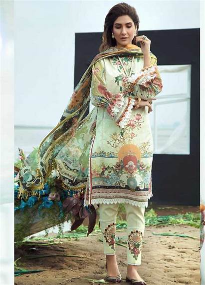Lawn Firdous Suit Luxury Piece Embroidered Unstitched