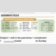 2 3 Simple Past Statements With Regular Verbs Youtube