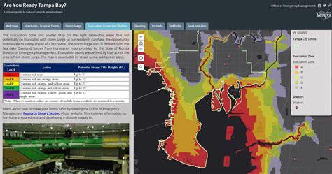 natural hazards map city  tampa