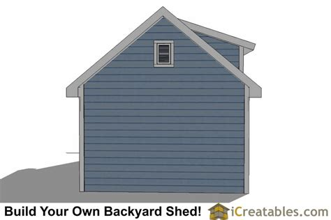 12x20 Storage Shed Plans by 12x20 Shed Plans With Dormer Icreatables