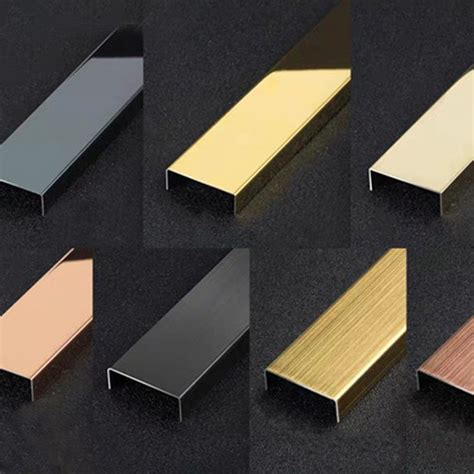 decorative stainless steel tile trim ceramic tile metal edge strips