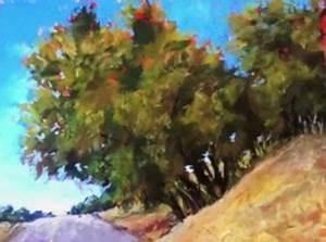 Peindre Au Pastel : dessin et peinture vid o 2003 le bosquet d 39 arbres en bordure de route pastel sur papier ~ Melissatoandfro.com Idées de Décoration