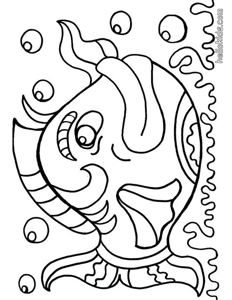 Big Coloring Pages Big Fish Coloring Pages Hellokids