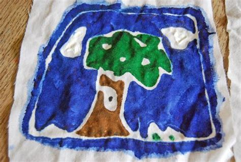 flour and water decorations children s batik with flour and water paste activities craft