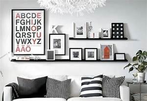 Cadre Deco Noir Et Blanc : d co murale comment accrocher les cadres au mur c t maison ~ Melissatoandfro.com Idées de Décoration