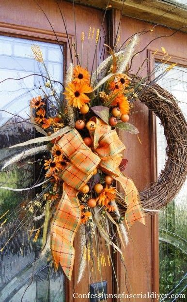Fall Wreath  All Things Thursday Blog Hop Features  Pinterest  Wreaths, Confessions And Craft