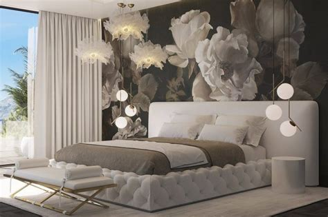 the design of the master bedroom reflects the formal