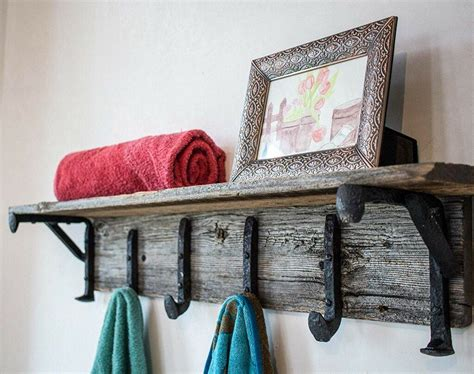 vintage rustic wall mounted coat rack  inviting home
