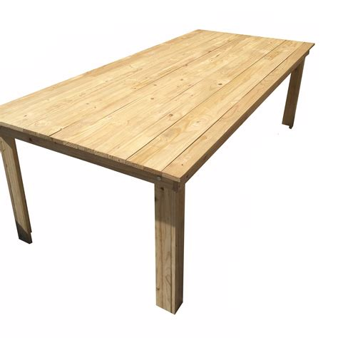 wooden table hire  seater     decor