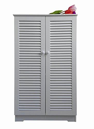 homecharm intl xx  storage cabinet louvered doorswhitehc  buy