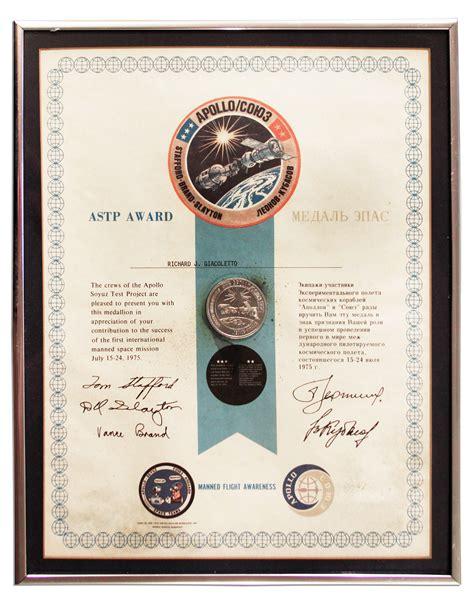 Lot Detail - Official NASA Apollo-Soyuz Test Project ...
