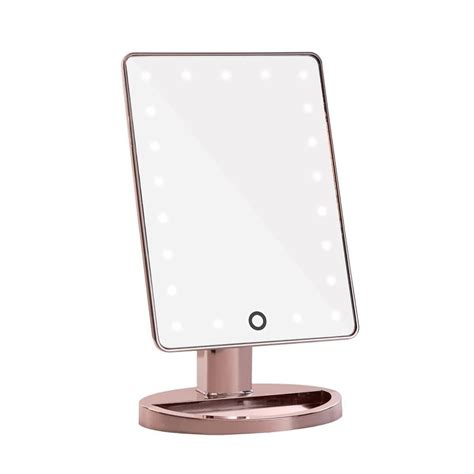 gold lighted makeup mirror impressions vanity touch 2 0 dimmable led makeup mirror in