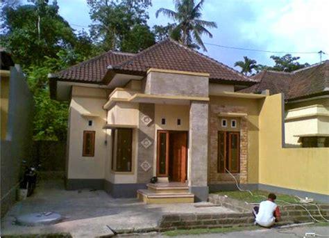 denah rumah minimalis pedesaan gambar desain rumah