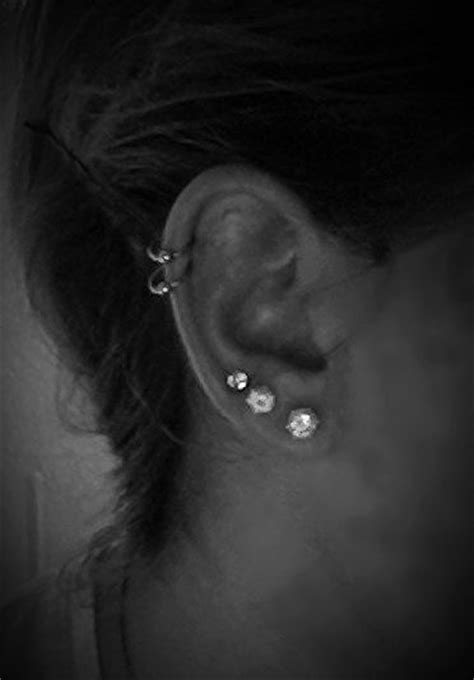 ideas  double cartilage piercing  pinterest