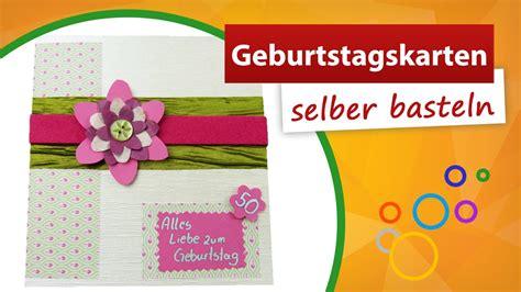 Geburtstagskarten Selber Basteln ♥ Glückwunschkarte