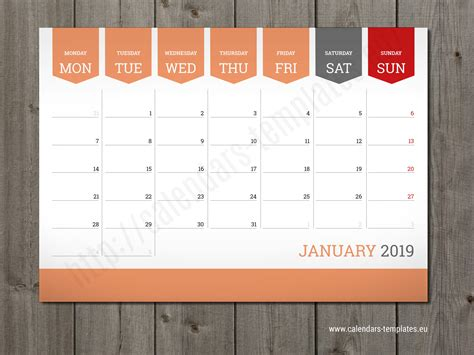 monthly calendar  planner wall  table pad planner
