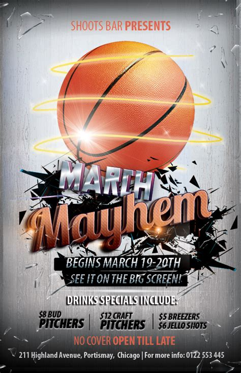 basketball flyer template free the madness begins free 3 basketball themed psd flyers for the big tournament nextdayflyers