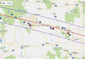 Wyoming Total Solar Eclipse 2017 Path Map