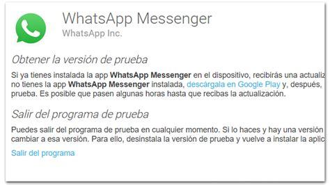 whatsapp est 225 en beta para usuarios ansiosos que quieran