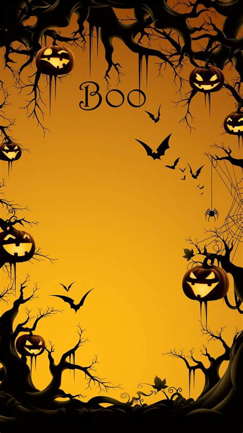 Iphone Wallpaper Bats by 2014 Boo Iphone 6 Plus Wallpaper With Pumpkin On
