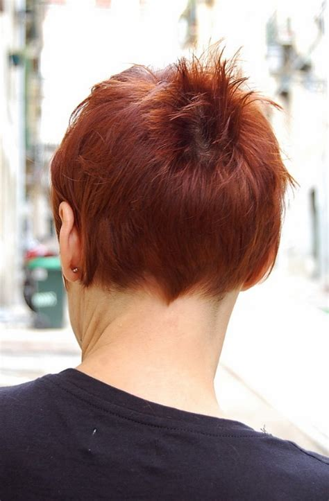 short chic red haircut  short stylish straight bangs hairstyles weekly