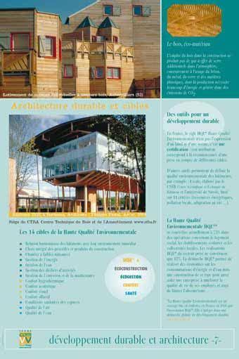 Exposition Architecture Durable Et Cibles Hqe