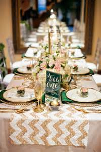 wedding table runners gold table settings wanderlust weddings