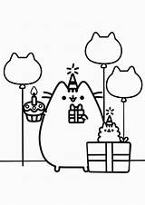 Pusheen Coloring Pages Easy Tulamama Cute Minecraft Birthday Books Skins sketch template