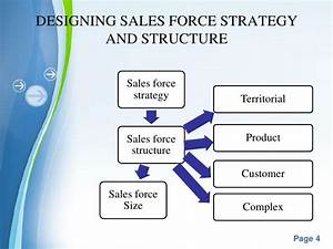 sales force management With sales team structure template