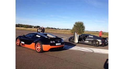 I've heard from somewhere that next year they are planning a race between a bugatti veyron ss, koenigsegg agera r and mclaren p1 but i'm not sure if that's. koenigsegg agera r vs bugatti veyron drag race - YouTube