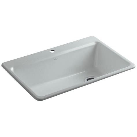 kohler kitchen sink accessories kohler riverby drop in cast iron 33 in 1 single bowl 6686