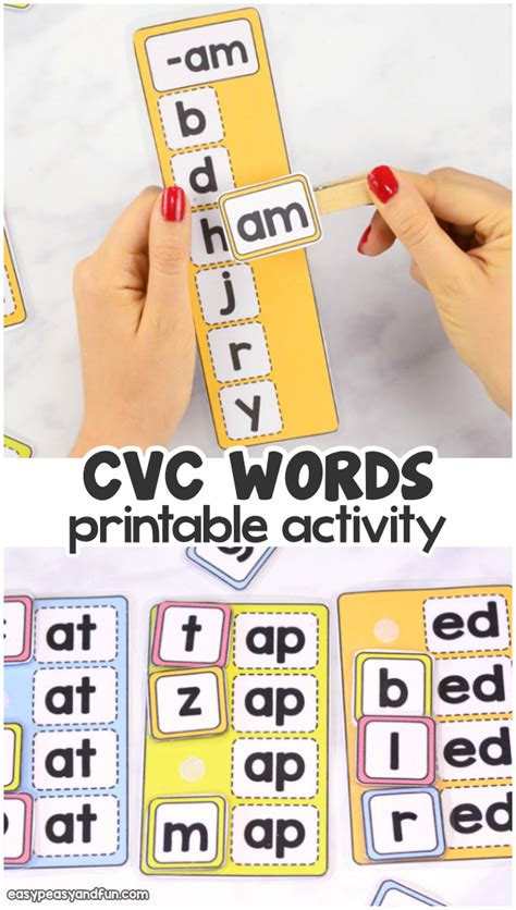 cvc words activity easy peasy  fun