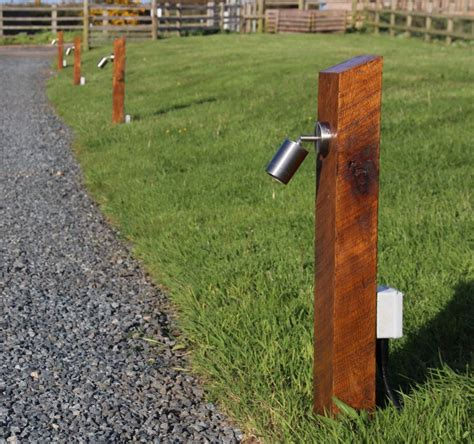 solar l posts for driveways cornwall new oak railway sleeper lights